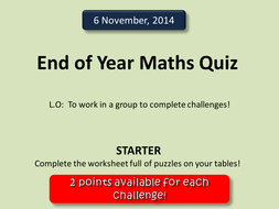 maths quiz  by deselby  teaching resources  tes maths quiz
