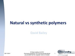 natural and synthetic polymers