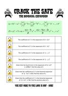 Binomial expansion lock game