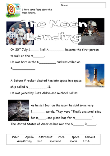 moon landing mythbusters worksheet - photo #14