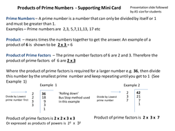 Product of Prime Factors