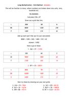 Long Multiplication - Grid Method - Answers.docx