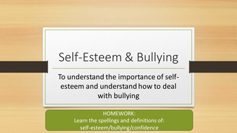 Self-esteem and bullying