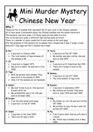 Chinese New Year Mini Murder Mystery
