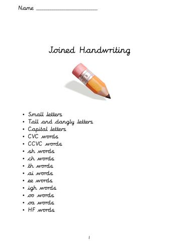 Cursive and Non Cursive Handwriting Booklet by Louisecrane ...