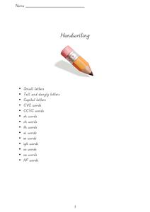 cursive handwriting booklet resources tes. Black Bedroom Furniture Sets. Home Design Ideas