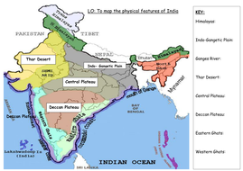 Physical features of india by boomdeaye teaching resources tes map of indiacx gumiabroncs Choice Image