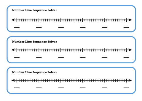 Sequences - Blank Number Line Visual Learning Aid by Miss-Becky ...