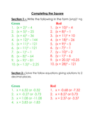 Solving by completing the square grade A by whidds | Teaching Resources