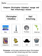 Christopher Columbus and Neil Armstrong (images to sort).ppt