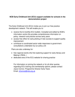 NCB Early Childhood Unit (ECU) support available for schools in the demonstration project.pdf
