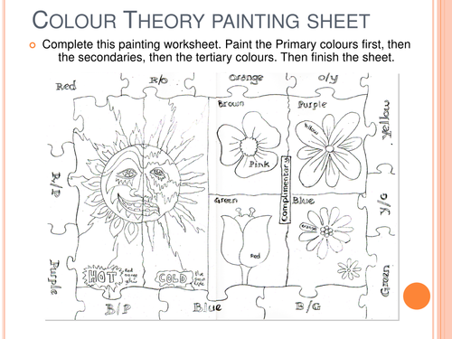 Colour mixing linked to artists by aliomahony Teaching – Color Theory Worksheets