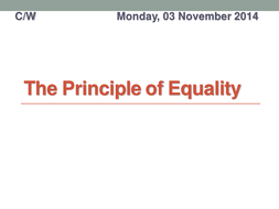 The Principle of Equality.pptx