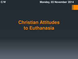 Christian views about euthanasia: Writing frame
