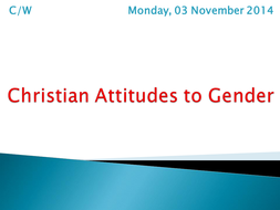 Christian Attitudes to Gender.pptx