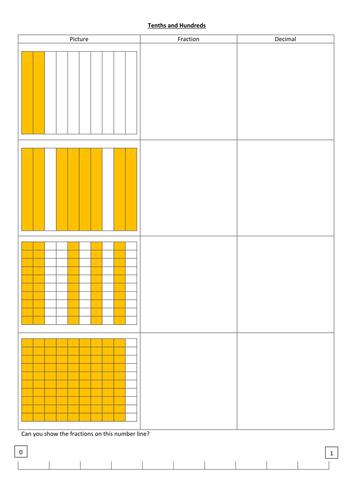 Number Names Worksheets : tenths and hundredths worksheets Tenths ...
