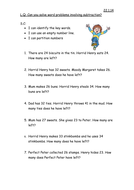 Horrid Henry Subtraction word problems