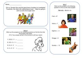 BIDMAS - Solve a Scooby Doo Mystery!