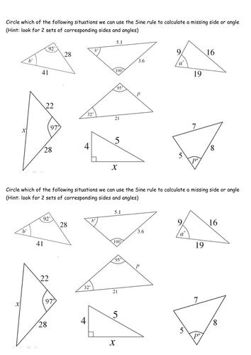 Sine Rule And Cosine Rule Worksheet: sine cosine rule worksheet ks4 sine and cosine rule working with ,