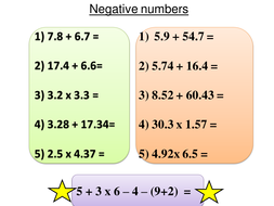adding and subtracting negative numbers - Adding And Subtracting Negative Numbers Worksheet