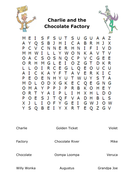 Charlie and the Chocolate Factory Wordsearch by tomremnant