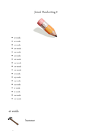 Cursive and non cursive handwriting booklet 2 by