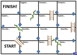 blooms snakes and ladders blank template by peteslessontoolbox