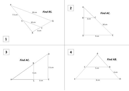 Similar Triangles by blod19 Teaching Resources Tes – Similar Triangles Worksheet Pdf
