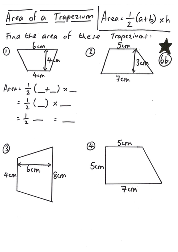 Printables Area Of Trapezoids Worksheet area of a trapezium worksheet imperialdesignstudio lesson by ryangoldspink teaching resources tes