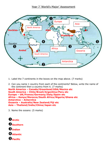 grade 9 geography unit test physical geography short answers pdf