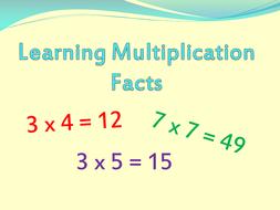 Maths  New Curriculum 2014 Times tables