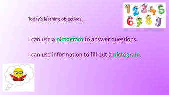 Pictograms: Interactive powerpoint and worksheets