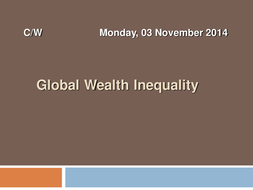 Religion, Poverty & Wealth: Global Inequality