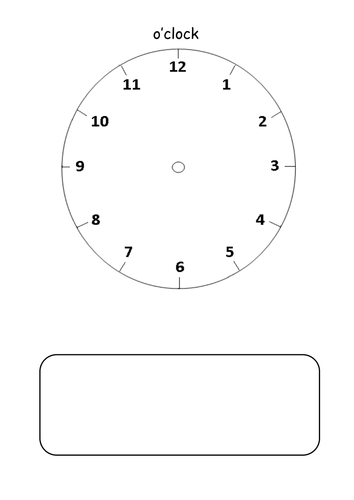 Number Names Worksheets : clock faces sheet ~ Free Printable ...