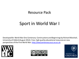 Sport in WW1: Resource Pack