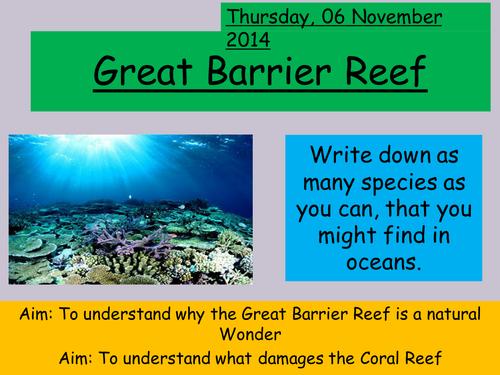The Great Barrier Reef by Lemonellie2000 - Teaching ...