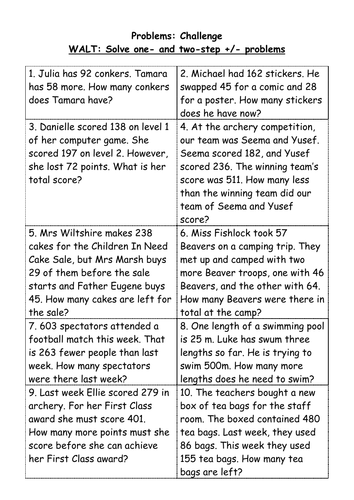 Number Names Worksheets : addition word problems grade 4 Addition ...