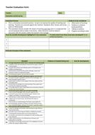 Teacher Evaluation Form