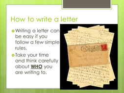 Writing A Thank You Letter By Mwilson Teaching Resources Tes