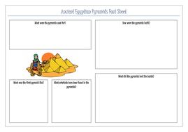 Ancient Egyptians Pyramid Factsheet by gillitee | Teaching Resources