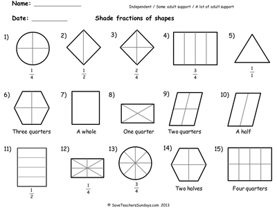 Fractions Worksheets Ks1. Basic Maths On Pinterest Fractions ...