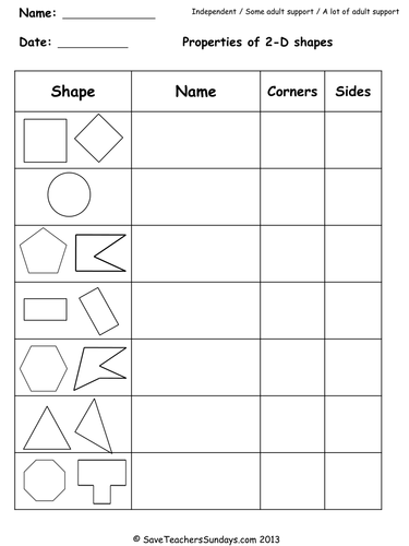 Year 2 Maths Worksheets from Save Teachers Sundays