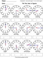 Year 3 Maths worksheets - Telling the time worksheets (4 levels of difficulty).pdf