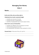 managing own money entry 3 by gioia67 teaching resources tes