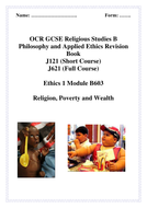 Ethics 1 B603 Poverty & Wealth revision.doc