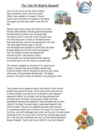 The Tale Of Mighty Beowulf Work sheet pack and poem.docx
