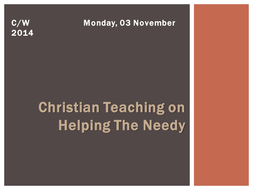 Christian Teaching on helping the needy.pptx