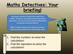 CALCS Maths Detectives Word Problems.pptx