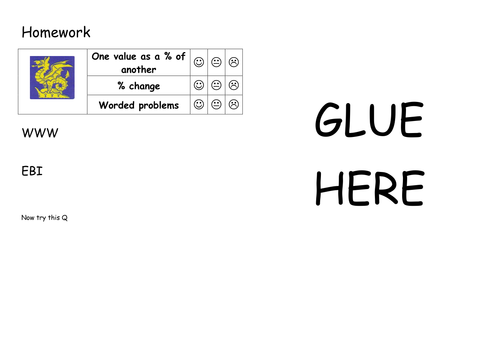 Maths KS3 KS4 homework differentiated by Labrown20