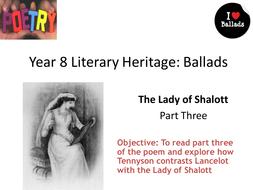 the lady of shalott ballad